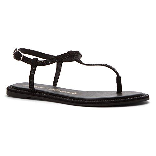 Athena Alexander Womens Chique Flat Sandal Black 5 M US >>> Check out this great product.