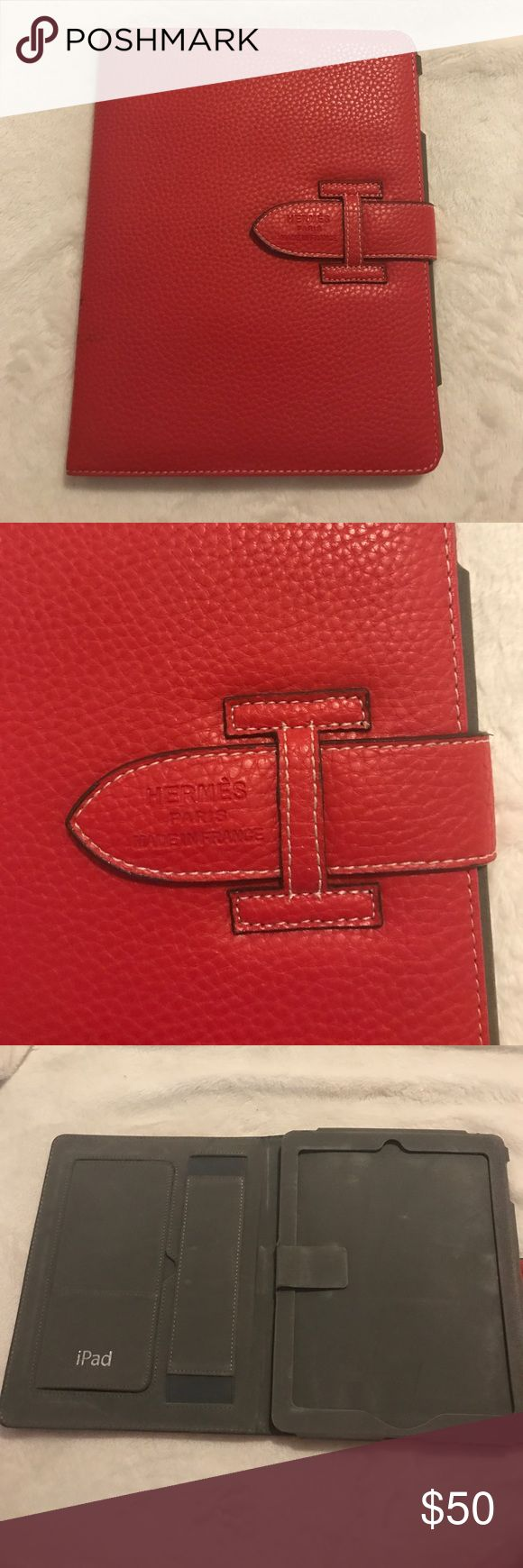 Hermes ipad case Red Hermes large ipad case Accessories Tablet Cases
