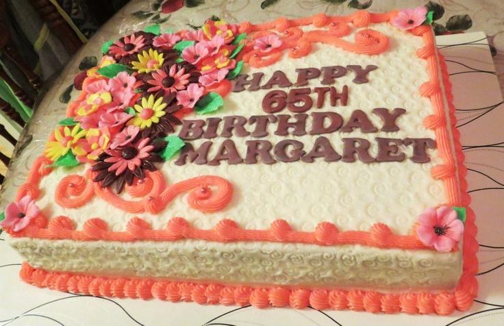 65 th Birthday fondant flowers
