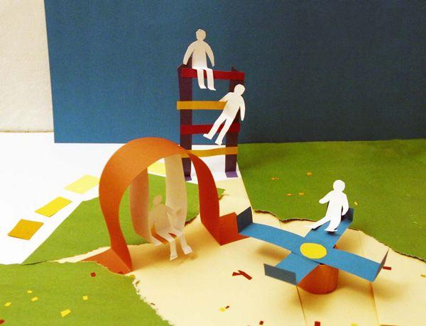 Город из бумаги. Поделки из бумаги и картона для детей