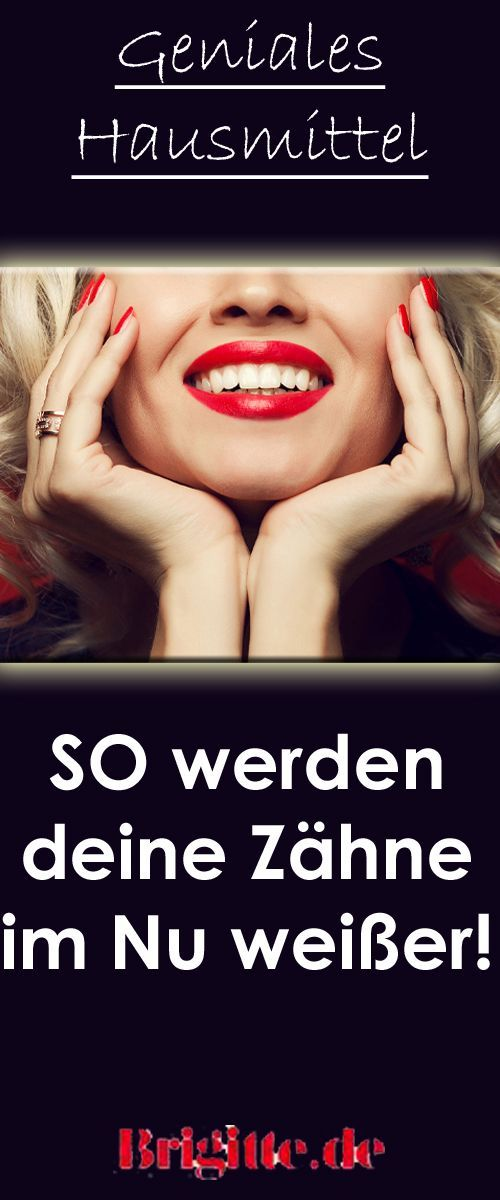 Weißere Zähne ohne teure Beauty-Produkte: Diese Zahn-Verschönerung könnt ihr ganz leicht selbst herstellen!