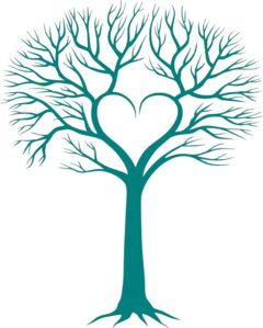 This would make a cute family tree-- place your family name inside the heart. I've never liked the name down low on the trunk.