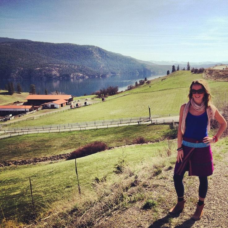 Up top Kalamalka Lake, Near Vernon, British Columbia, Canada. Follow our daily adventures at www.facebook.com/brightsideyoga