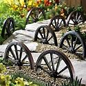 wagon wheel garden border