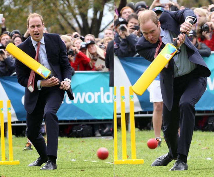 Prince William playing cricket http://cricketbatforsale.com/top-10-cricket-bats/