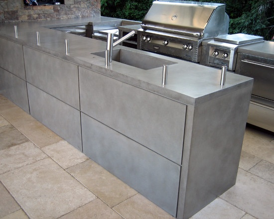 23 Best Concrete Bbq S Amp Outdoor Bar Tops Images On