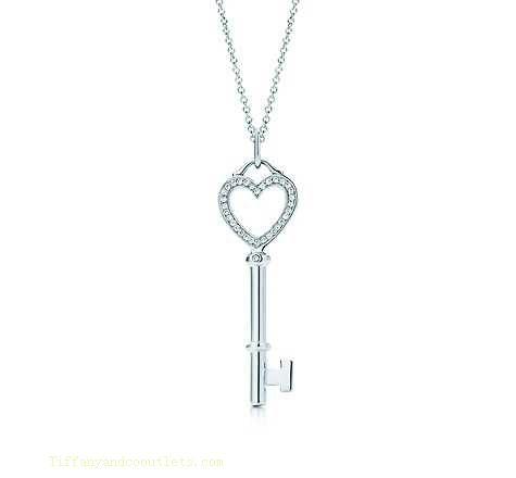 Tiffany Co Outlet keys heart key pendant jewelry