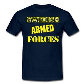swedish armed forces | Swedish Armed Forces | Standard-T-shirt herr | Tipsa en vän om denna ...
