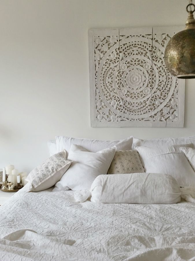 ethnic white indian morrocan bedroom