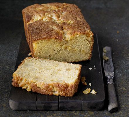PEAR & GINGER LOAF CAKE. * This makes a lovely teatime treat or pudding, served with cream and also works well with apple and cinnamon or damson and vanilla