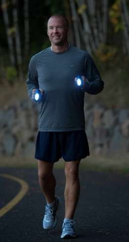 Found a great product for illuminating the roadway and helping passing cars see me easier when I talk a night walk. They worked great! www.knucklelights.com