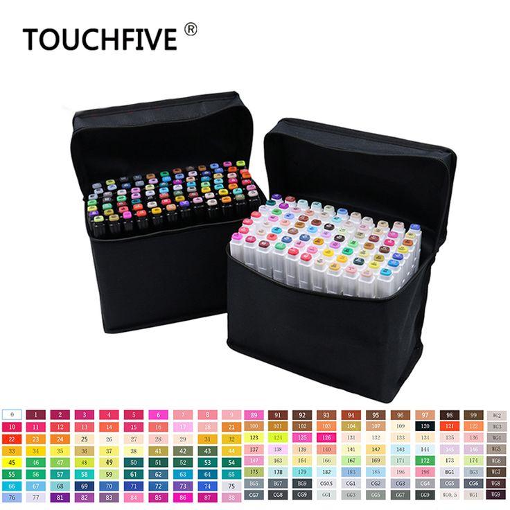 Touchfive 80 colores arte marcadores marcadores del bosquejo dual head profesional set de manga marcador stabilo útiles escolares oficina