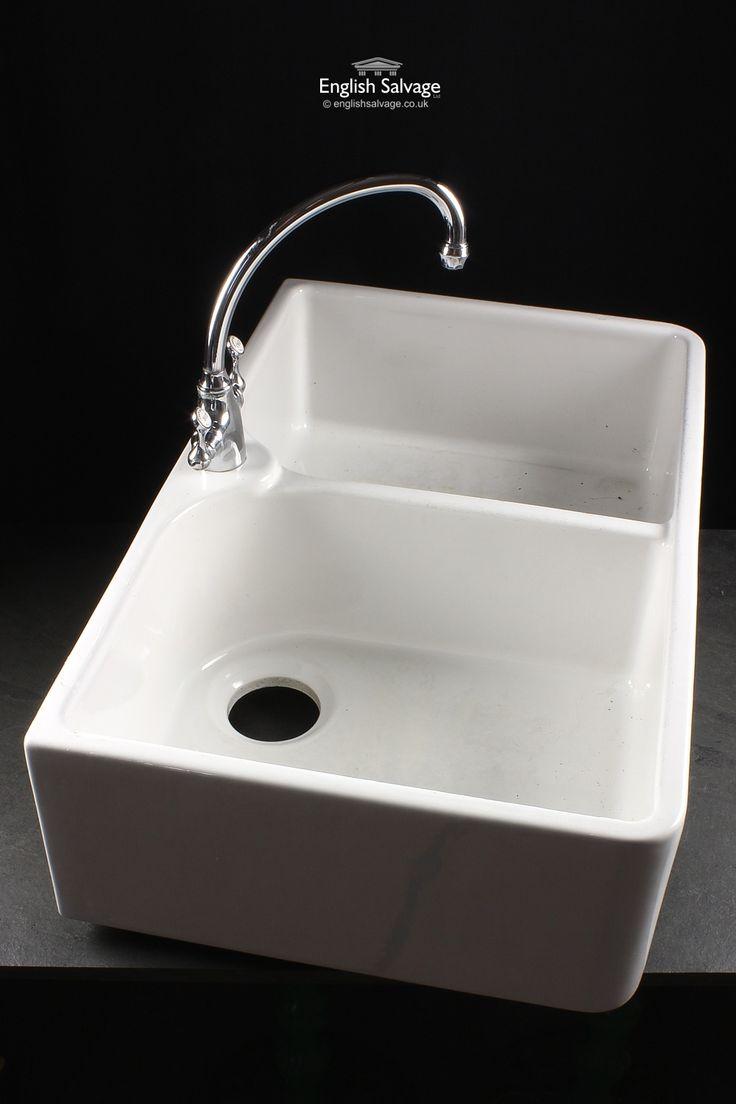 Reclaimed Double Belfast Sink with Mixer Tap
