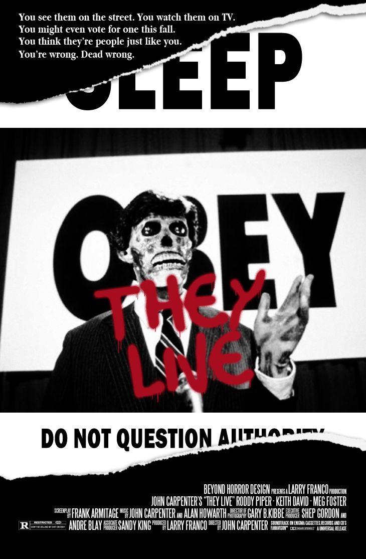Poster design john foster - John Carpenter S They Live 1988 Poster By Beyond Horror Design