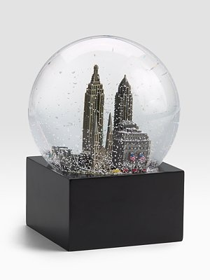 Saks Fifth Avenue New York City Snow Globe - Miss NYC all the time!!!