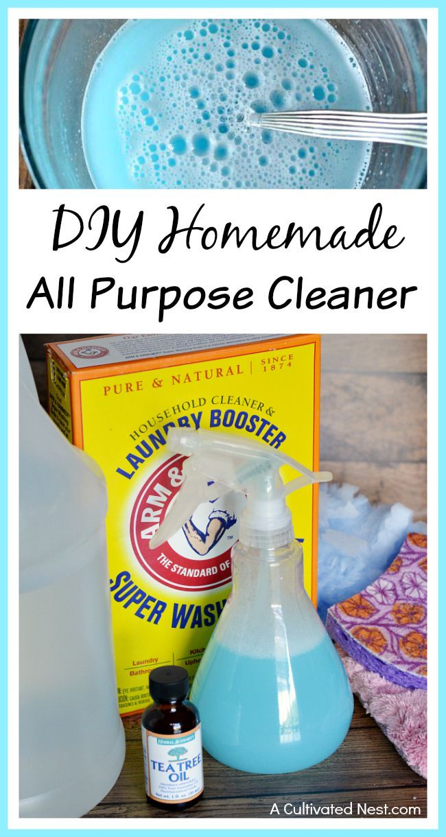 DIY All Purpose Cleaner - store bought cleaning products can be costly over time and you don't know what's in them. Save money and always have plenty of cleaner on hand with this homemade all purpose cleaner! | DIY cleaner recipes