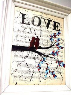 Cute way to add pretty or old sheet  music
