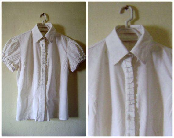 Edwardian White ShirtVictorian ShirtWhite by VintageBrandNew