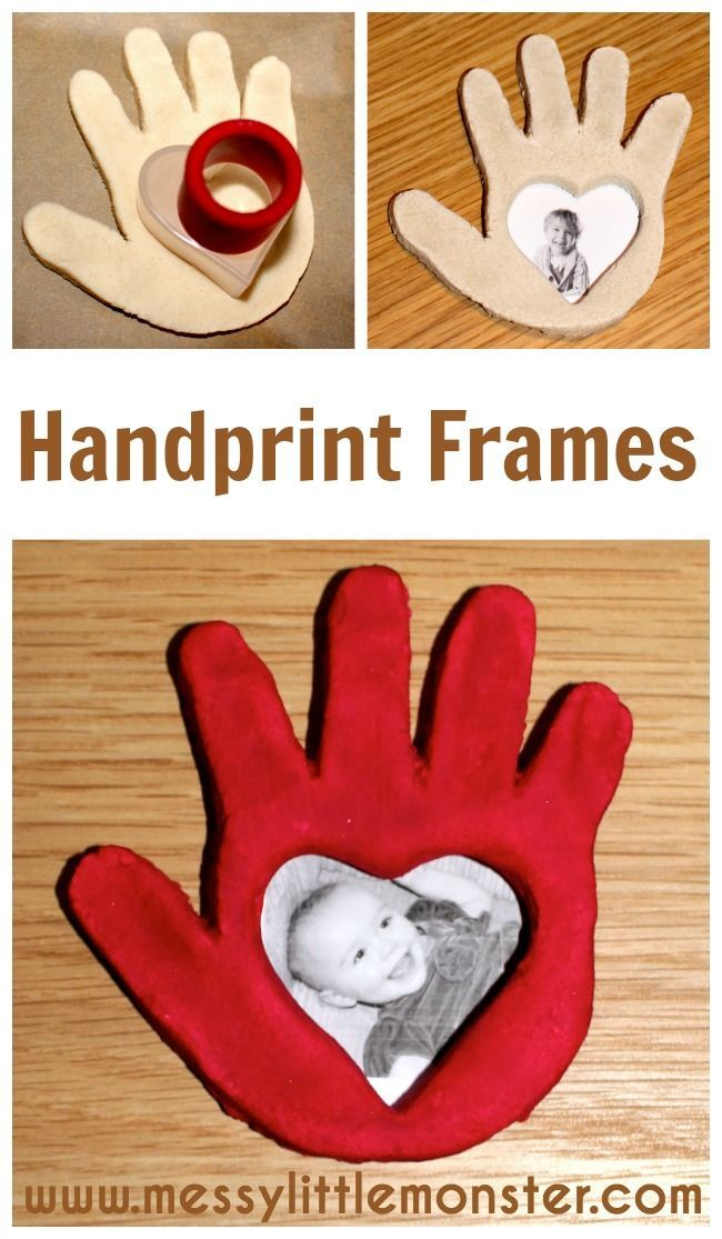 Salt dough handprint frame instructions.  A simple Valentines day or Mothers day…
