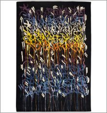 "JonOne ""Rainbow""  300 x 200 cm OR 400 x 300 cm   Signed and numbered rug designed by the famous street artist JonOne, and handwoven in Boccara's manufacture.  Dimensions: 300 x 200 cm  Natural Silk and Wool  Limited edition of 8  Signed and numbered."