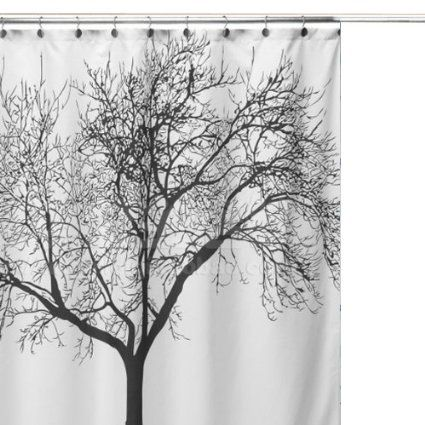 Vakind Big Scenery Tree Design Waterproof Bathroom Fabric Shower Curtain To Wrap Over A Canvas