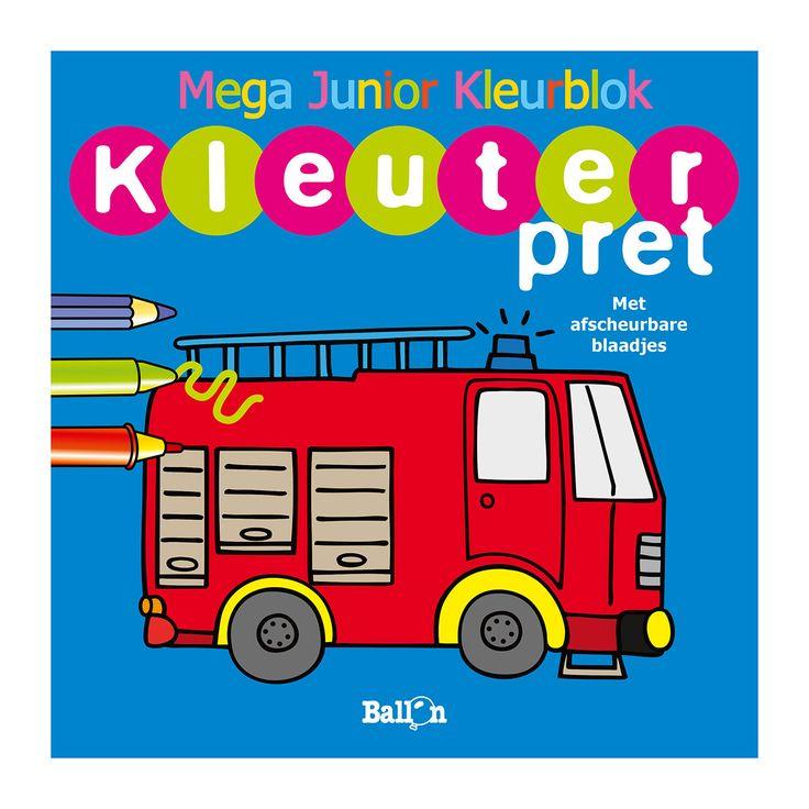 kleuterpret brandweerwagen kleurboek kleurplaten en