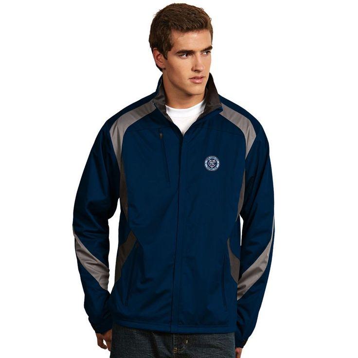 Men's Antigua New York City FC Tempest Desert Dry Xtra-Lite Performance Jacket, Size: Large, Med Blue