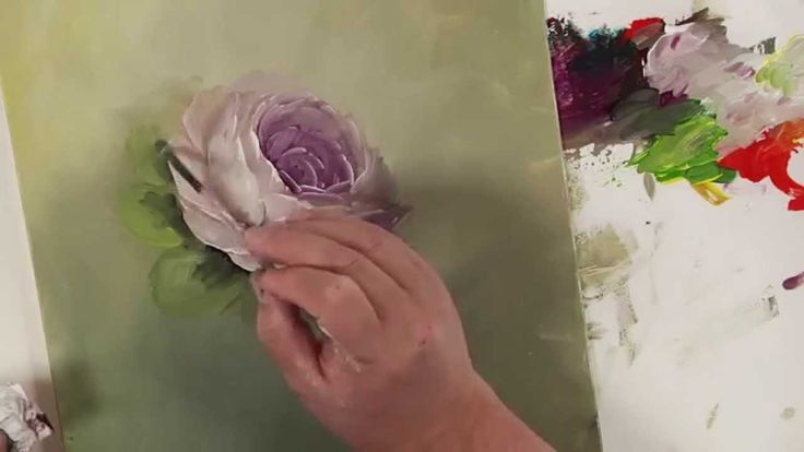 How to Paint a Rose Demo: Colors of Paint It Simply Part 4