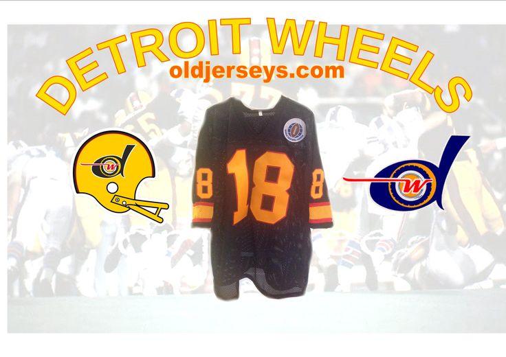 Detroit Wheels Replica Football Jersey (World Football League)