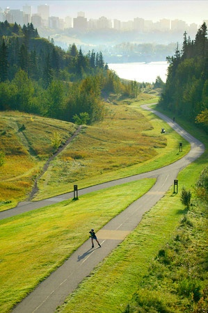 One of Edmonton's 460 parks and part of the longest continuous urban parkland in North America.