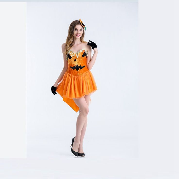 ==> [Free Shipping] Buy Best Halloween Cosplay Party Costumes Pumpkin Skirt For Women Halloween Fancy Dress Women Sexy Adult Costume Online with LOWEST Price | 32733544434