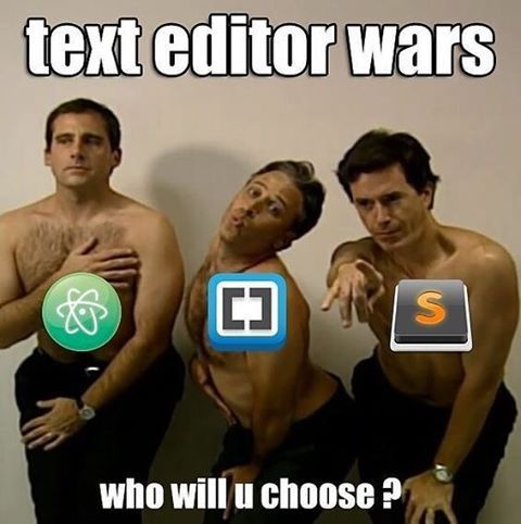 Comment the name of your favorite text editor! #code #software #programming #coder #softwaredeveloper #programmer #ruby #rails #javascript #web #linux #apple #texteditor #sublime #brackets #atom