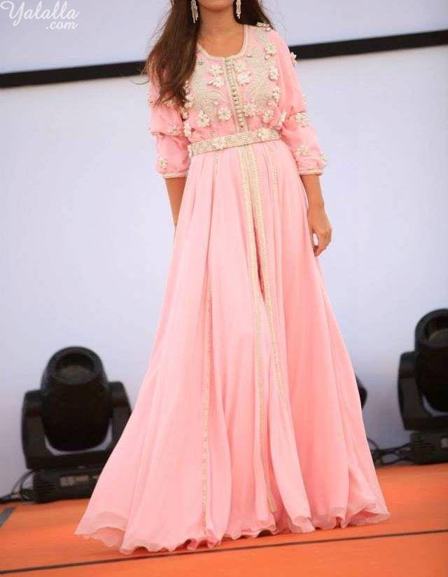 Pink moroccan caftan