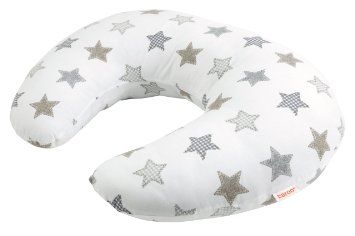 Baroo Beige Stars Nursing Pillow (Beige): Amazon.co.uk: Baby - my arms would hurt so bad if it was not for this.