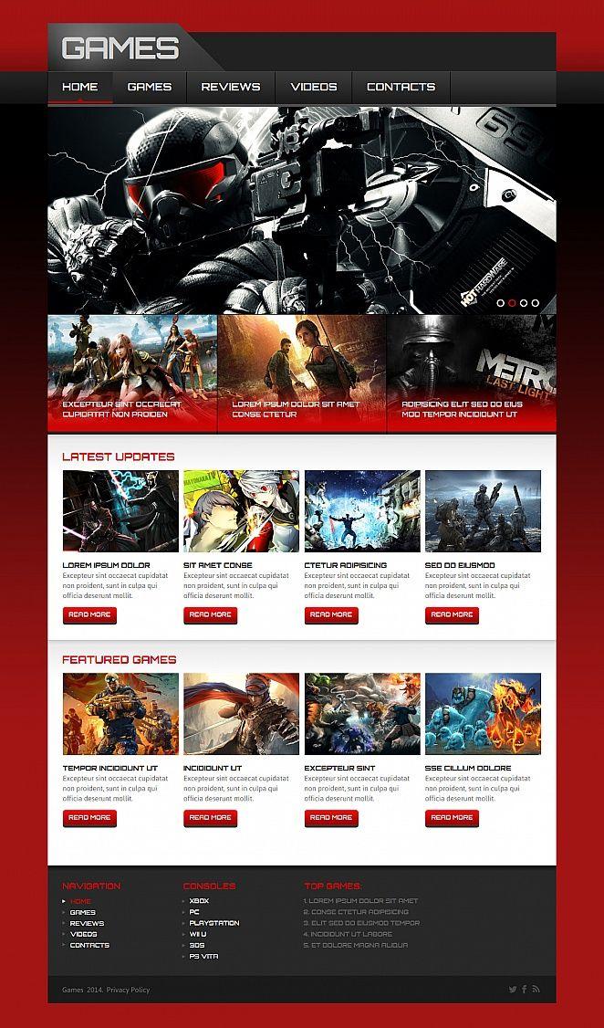 Games Moto Cms Html Template Moto Games Cms Html Templates Templates Web Design Software