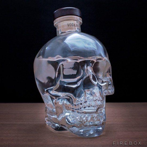 Vodka en cabeza de cristal