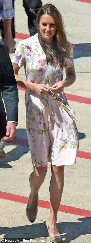 Arriving in style: Kate in Project D arriving at Brisbane airport as the Royal two commence their journey home