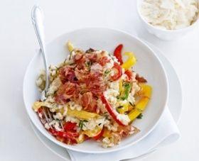 Paprikarisotto met pancetta