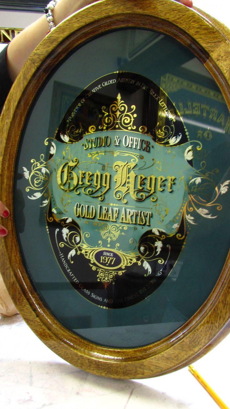 Gregg Heger Обратный Стекло Знак «Дэвид Смит - Традиционные декоративные стекла Исполнитель
