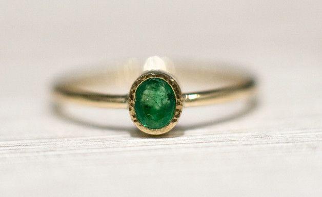 Smaragd Verlobungsring, grün, Edelstein / gemstone engagement ring, smaragd green made by Arpelc via DaWanda.com
