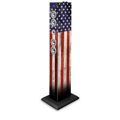 Torre Multimediale docking + micro USB USA Flag Bluetooth® - Da Bigben Interactive. Ulteriori informazioni qui: http://www.bigbeninteractive.it/produit/produit/id/8071