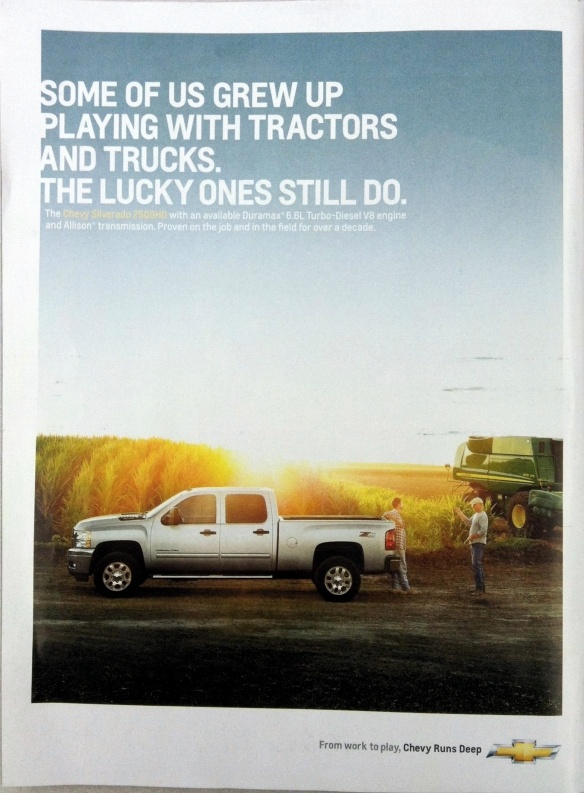 Some of us grew up playing with tractors and trucks. The lucky ones still do.