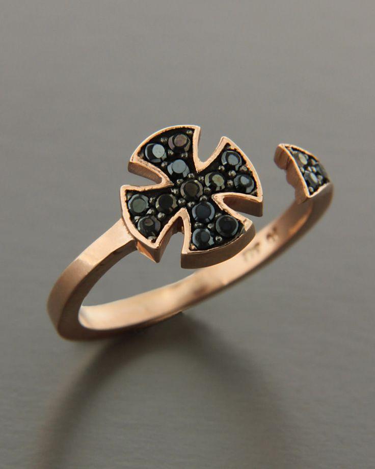 Δαχτυλίδι chevalier ροζ χρυσό Κ9