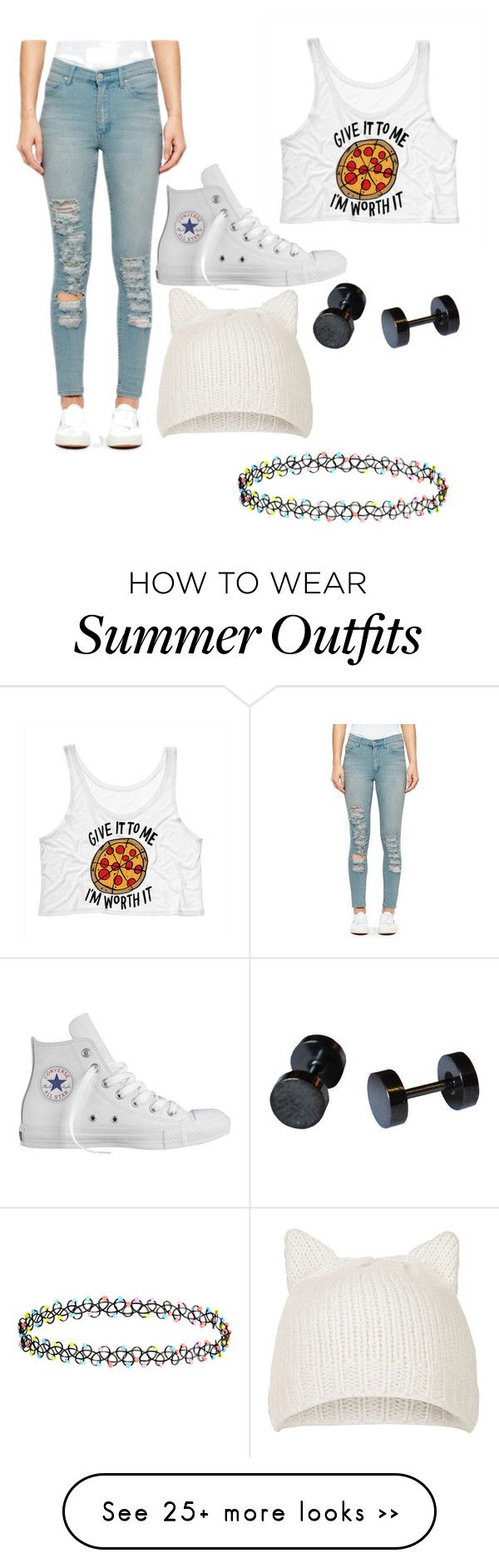 """""""Untitled #20"""" by mariahbatman on Polyvore featuring Cheap Monday, Converse, Topshop and Accessorize"""