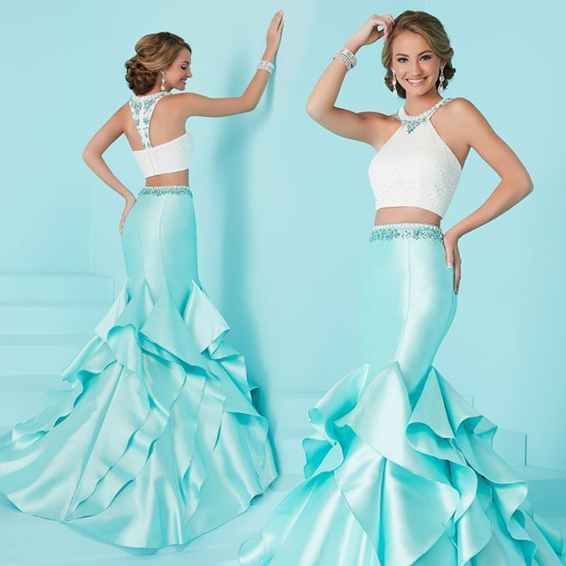 Mermaid skirt.#TiffanyDesigns | Style 16207 | #Houseofwu | #Fashion | #Adressoreverydream | #Prom | #Promdress | #Gown | #Love | #Lovedress | #Beaded