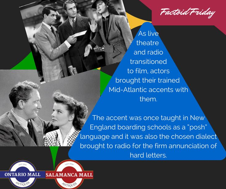 The Mid-Atlantic accent in classic films :) #hollywood #classicfilm #factoidfriday #fact #ontariomallantiques #history