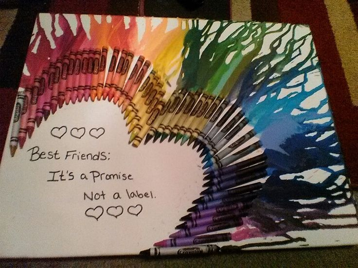 Melted Crayon Art For My Best Friend Kelly Artsy Craftsy T