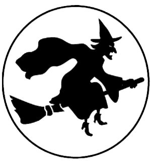 Witch On Broom Pattern