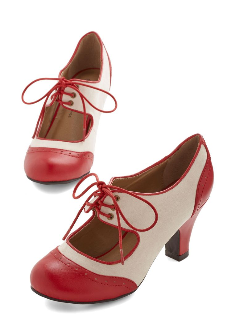 The Best of Times Heel in Red. They make these oh-so-comfy and cute heels in multiple color combinations.  I have the red.