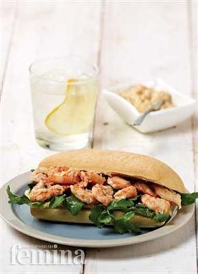 Femina.co.id: Gingered Shrimp Sandwich #resep #menudiet